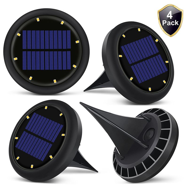 0.07w Solar Powered LED Ground Lights Solar Ground Buried Light Four Colors