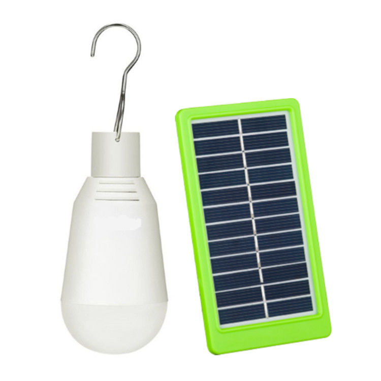 Portable Led Bulb Solar Panel Yard Lights Outdoor Rechargeable 7W For Camping